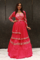 Fuschia Pink Printed Indo Western Clothing For Women Online - Emiraas By Indrani