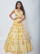 Shaded Lemon Yellow Designer Lehenga With Sequence & Thread Work Online - Emiraas By Indrani