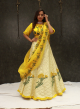 Lemon Yellow Raw Silk Designer Lehenga Online - Emiraas By Indrani