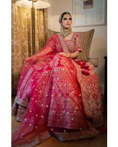 Red Bridal Lehenga For Women Online   Emiraas by Indrani
