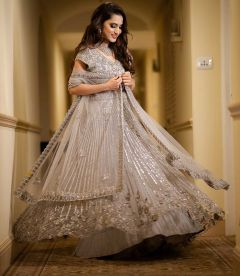 Silver Lining Evening Wear Lehenga For Women   Emiraas by Indrani